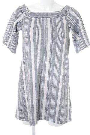 Zara Trafaluc Camisa larga blanco-gris claro estampado a rayas