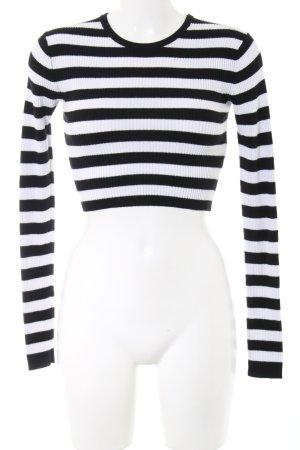 Zara Trafaluc Longsleeve schwarz-weiß Streifenmuster Casual-Look