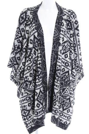 Zara Trafaluc Gilet long tricoté noir-gris foncé motif ethnique