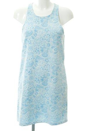 Zara Trafaluc Top lungo celeste-bianco motivo floreale stile casual