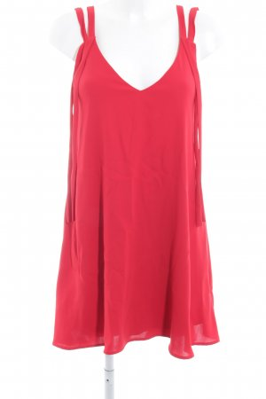 Zara Trafaluc Long Top red casual look
