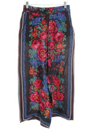 Zara Trafaluc Marlene Trousers flower pattern extravagant style