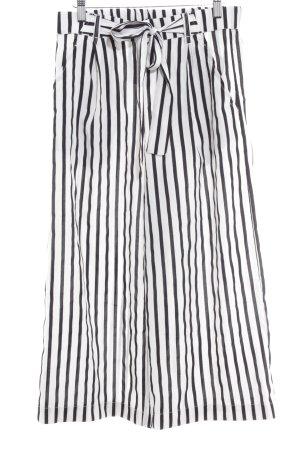 Zara Trafaluc Marlene Trousers black-white striped pattern casual look