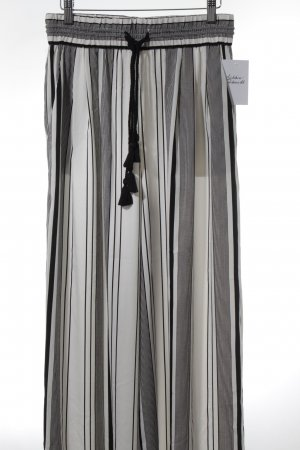 Zara Trafaluc Marlene Trousers black-natural white striped pattern