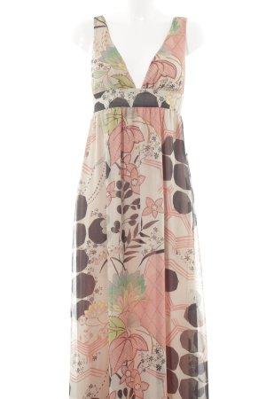 Zara Trafaluc Maxikleid florales Muster Beach-Look