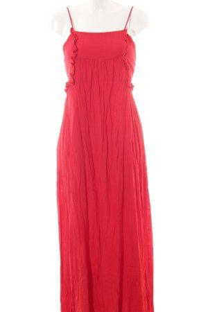 Zara Trafaluc Maxikleid rot klassischer Stil