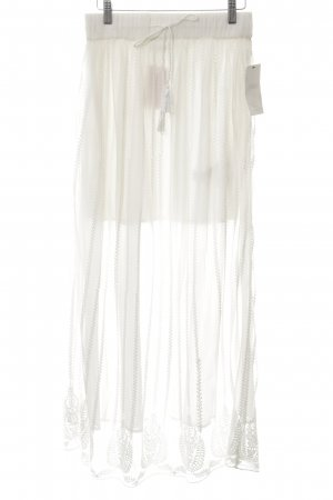 Zara Trafaluc Maxi Skirt white simple style