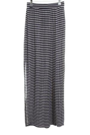 Zara Trafaluc Jupe longue noir-blanc motif rayé style décontracté