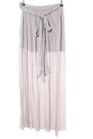 Zara Trafaluc Maxi rok lichtgrijs Polyester