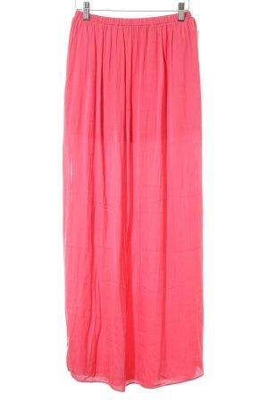 Zara Trafaluc Maxi Skirt bright red beach look