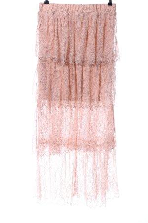 Zara Trafaluc Maxi rok nude bloemenprint elegant