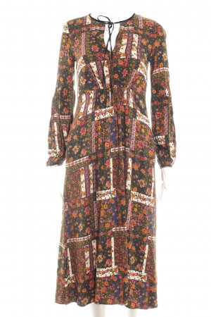 Zara Trafaluc Midi Dress floral pattern hippie style