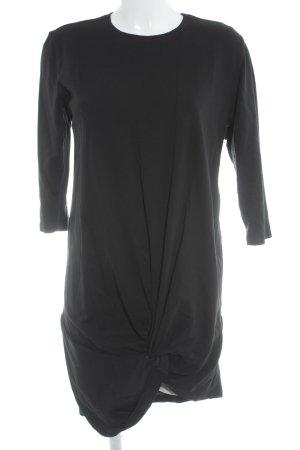 Zara Trafaluc Midikleid schwarz schlichter Stil