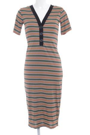 Zara Trafaluc Midi Dress striped pattern business style