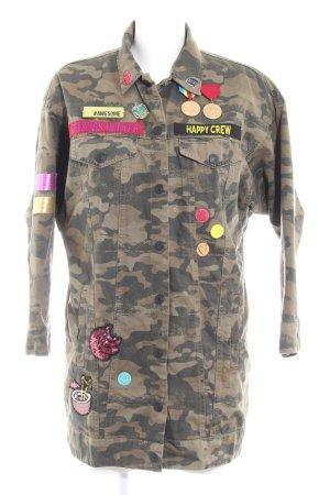 Zara Trafaluc Chaqueta militar estampado de camuflaje estilo extravagante