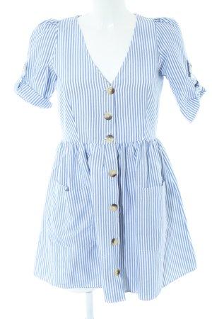 Zara Trafaluc Minikleid blau-weiß Streifenmuster Casual-Look