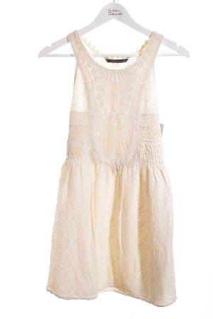 Zara Trafaluc Minikleid creme Boho-Look