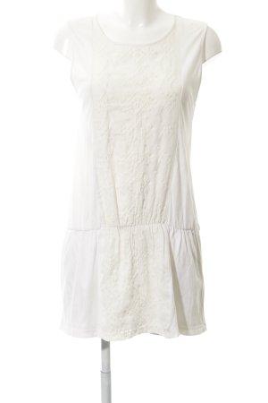 Zara Trafaluc Minikleid creme-weiß Boho-Look