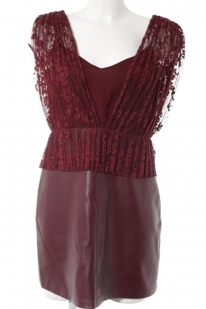 Zara Trafaluc Minikleid dunkelrot Party-Look