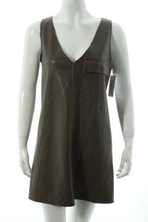 Zara Trafaluc Minikleid grüngrau schlichter Stil