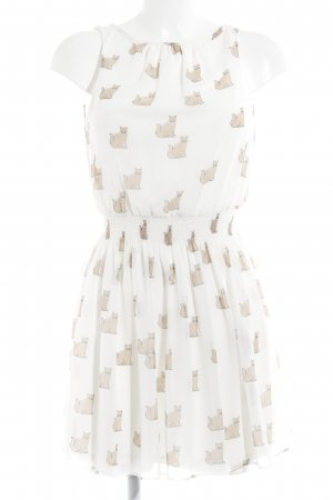 Zara Trafaluc Minikleid hellbeige-beige Animalmuster Casual-Look