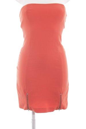 Zara Trafaluc Minikleid hellorange Party-Look