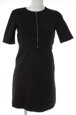 Zara Trafaluc Minikleid schwarz-silberfarben Business-Look