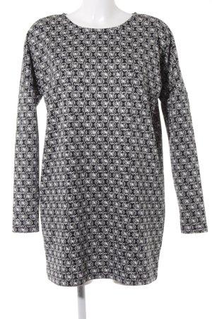 Zara Trafaluc Minikleid schwarz-weiß abstraktes Muster