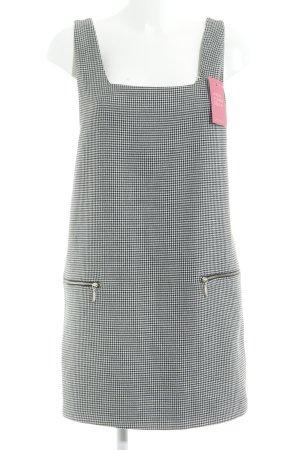 Zara Trafaluc Minikleid schwarz-weiß Hahnentrittmuster Casual-Look