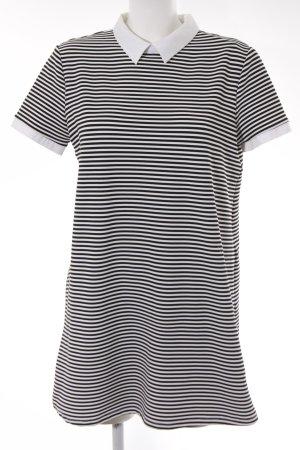 Zara Trafaluc Minikleid schwarz-weiß Streifenmuster Casual-Look
