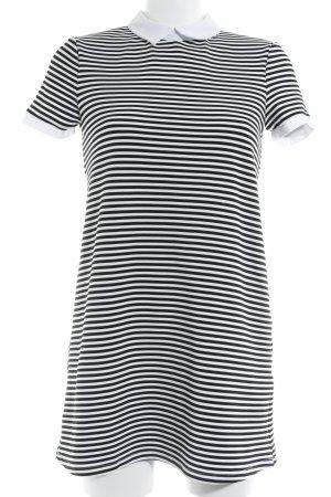 Zara Trafaluc Minikleid schwarz-wollweiß Streifenmuster Casual-Look