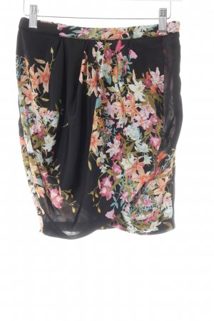 Zara Trafaluc Minirock Blumenmuster Casual-Look
