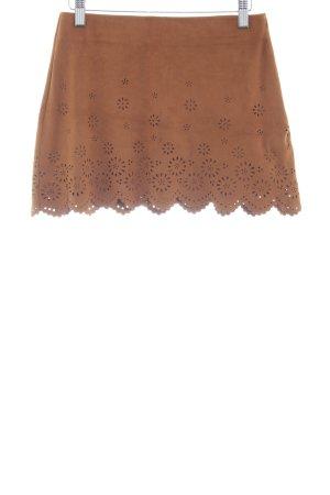 Zara Trafaluc Minirock camel florales Muster Boho-Look