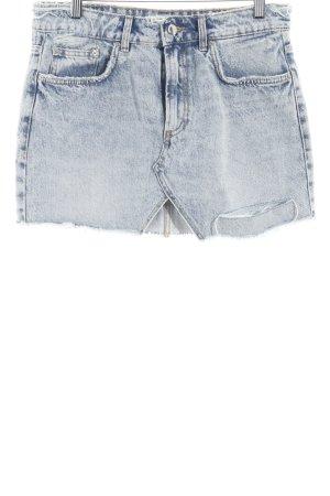 Zara Trafaluc Minirock himmelblau-blau Street-Fashion-Look