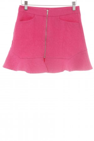Zara Trafaluc Minirock pink Steppmuster Party-Look