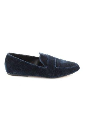Zara Trafaluc Mocasines azul estilo clásico