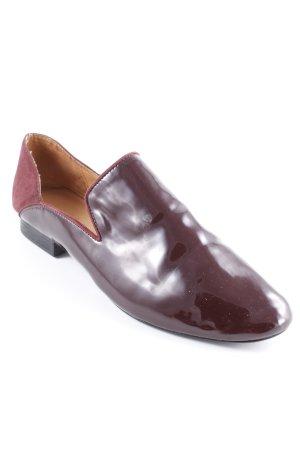 Zara Trafaluc Mocassins rouge carmin style cuir