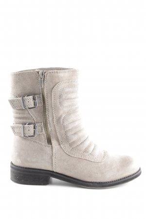 Zara Trafaluc Biker Boots grey brown biker look