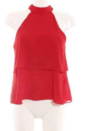 Zara Trafaluc Top estilo halter rojo elegante
