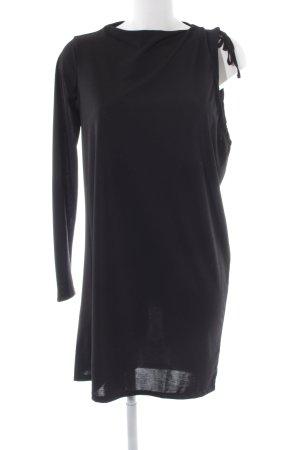 Zara Trafaluc One-Shoulder-Kleid schwarz Casual-Look