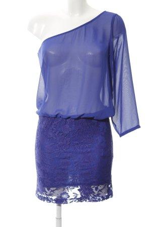 Zara Trafaluc One Shoulder Dress dark violet casual look