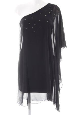 Zara Trafaluc Eénschouderjurk zwart elegant