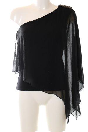 Zara Trafaluc One Shoulder Top black elegant