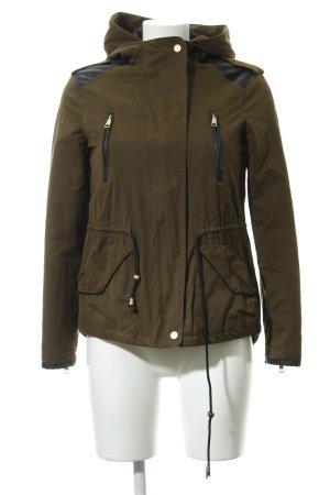 Zara Trafaluc Veste d'extérieur vert foncé-noir style décontracté