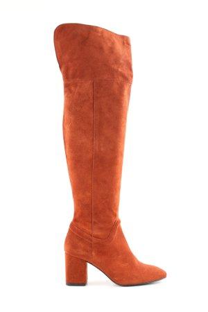Zara Trafaluc Kniehoge laarzen licht Oranje casual uitstraling