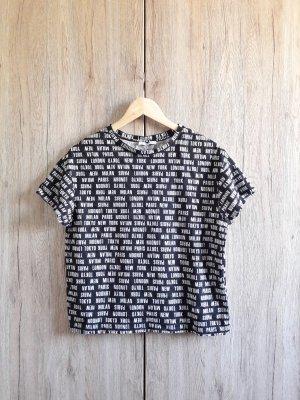 Zara Trafaluc Oversize Blogger Shirt schwarz weiß Gr. S