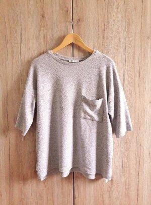 Zara Pull en laine gris-gris clair