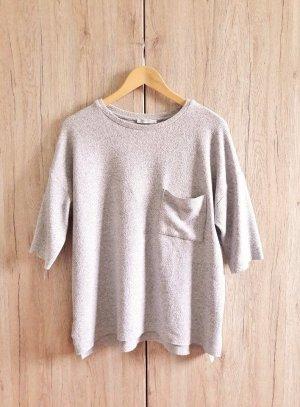 Zara Trafaluc Short Sleeve Sweater light grey-grey