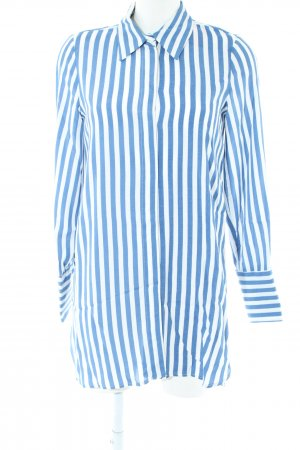 Zara Trafaluc Oversized Blouse blue-white striped pattern casual look