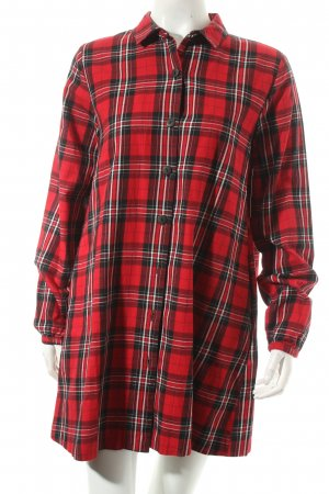 Zara Trafaluc Oversized Bluse Karomuster Casual-Look